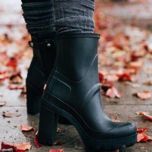 Hunter high heeled boots